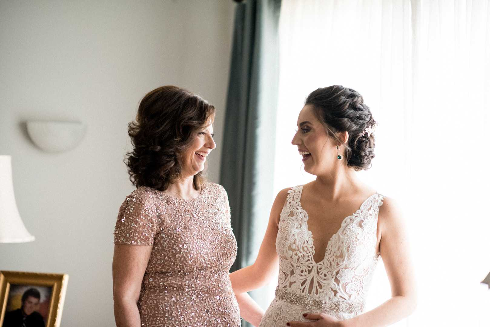 Bride and Her Mom | A Stunning St. Patrick's Day Wedding | Kate Aspen