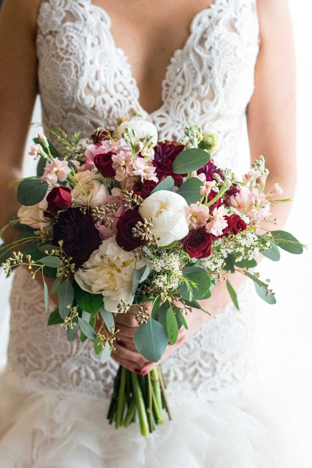 Bride's Floral Bouquet | A Stunning St. Patrick's Day Wedding | Kate Aspen