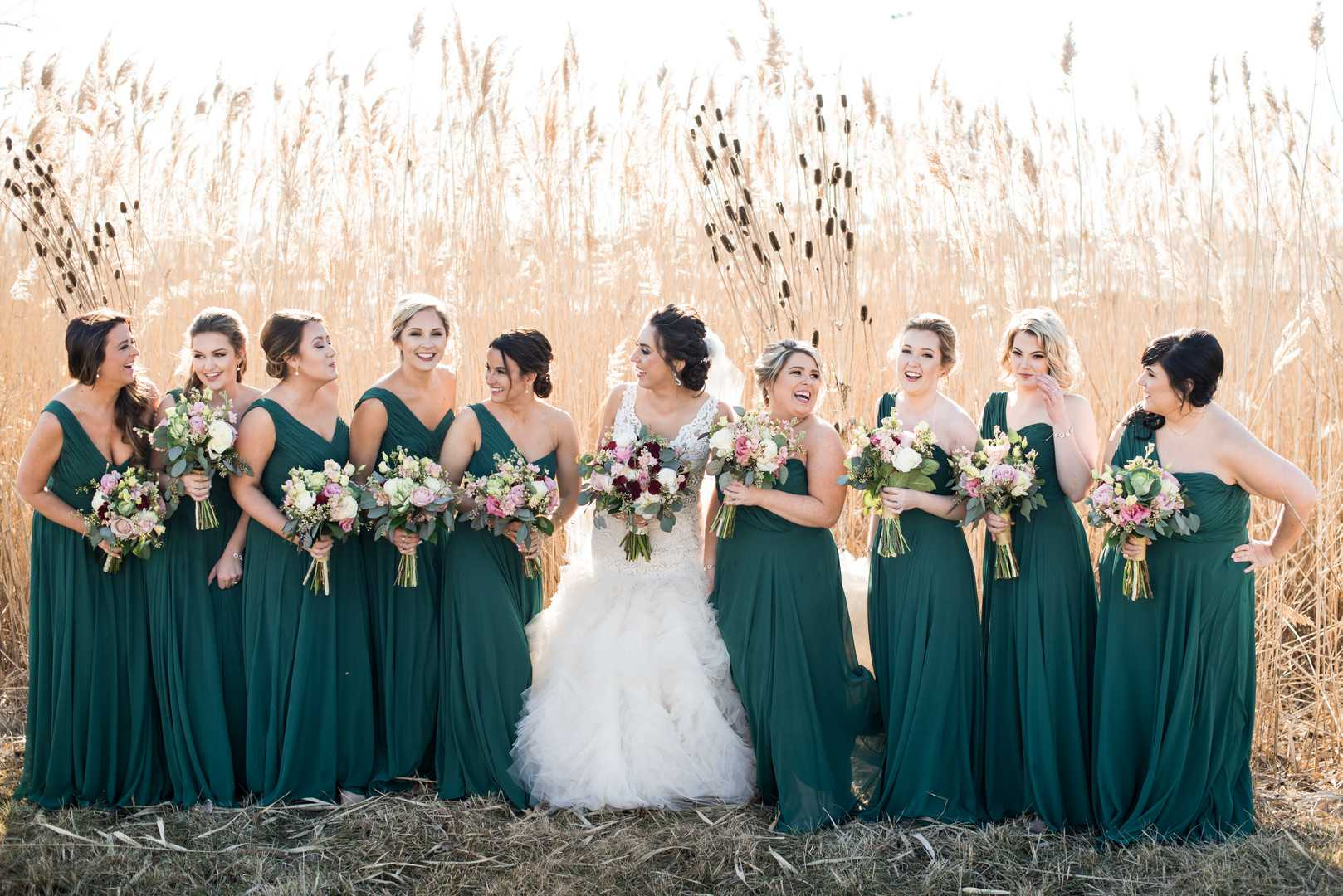 Bride and Bridesmaids | A Stunning St. Patrick's Day Wedding | Kate Aspen