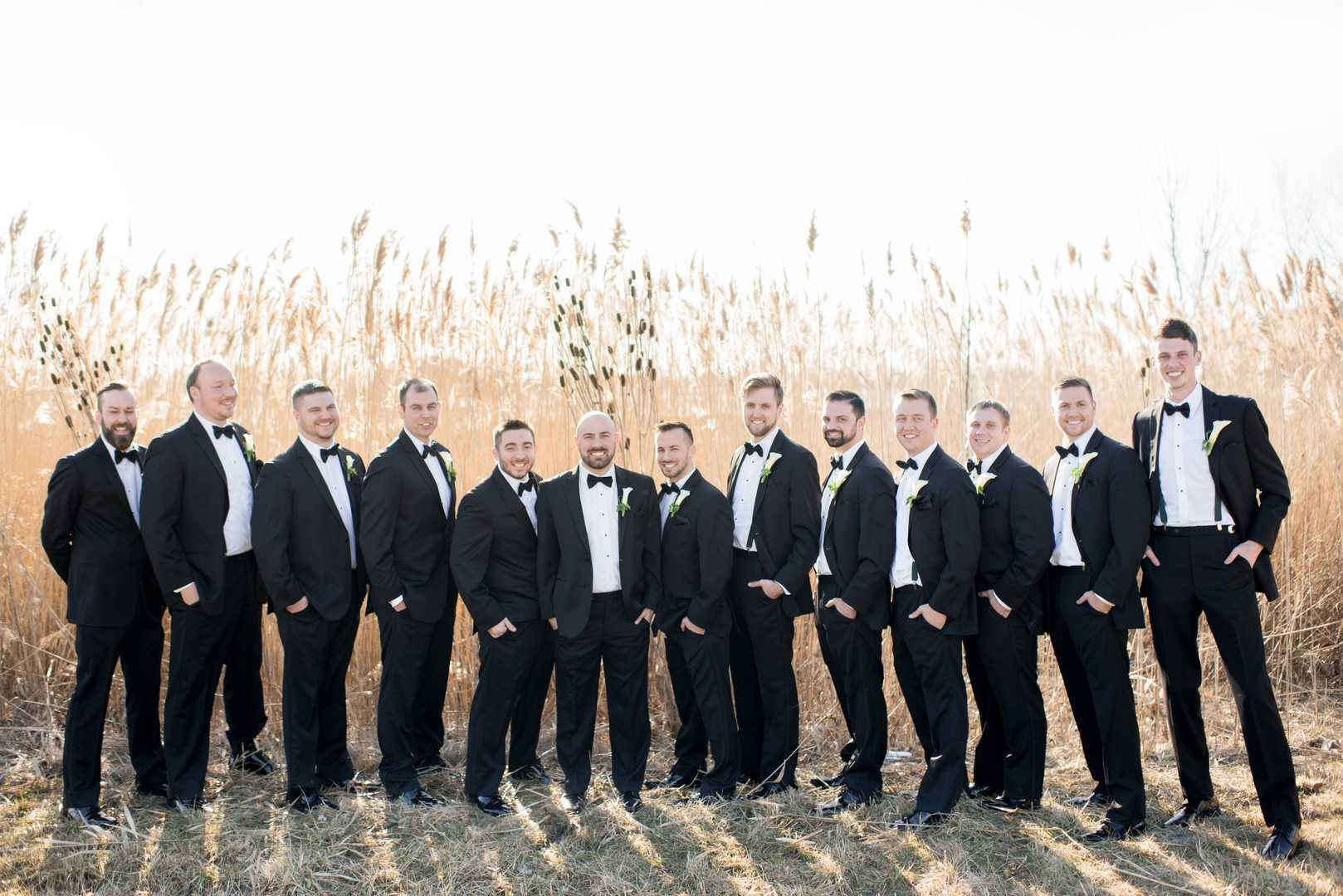 Groom and groomsmen | A Stunning St. Patrick's Day Wedding | Kate Aspen