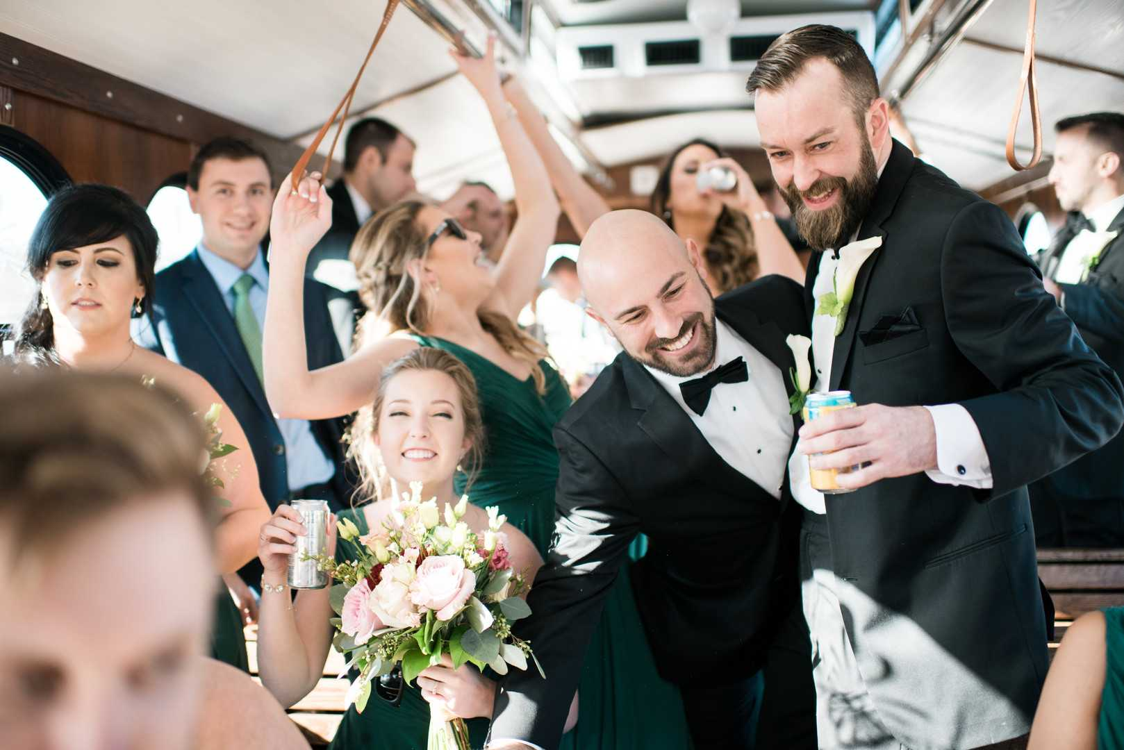 Bridal Party | A Stunning St. Patrick's Day Wedding | Kate Aspen