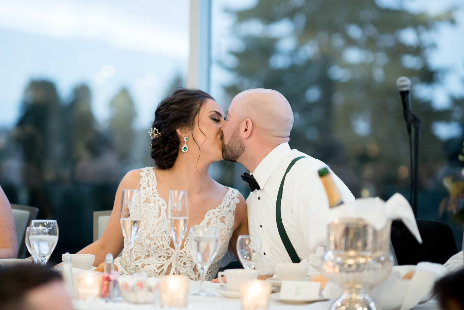 Bride and Groom | A Stunning St. Patrick's Day Wedding | Kate Aspen