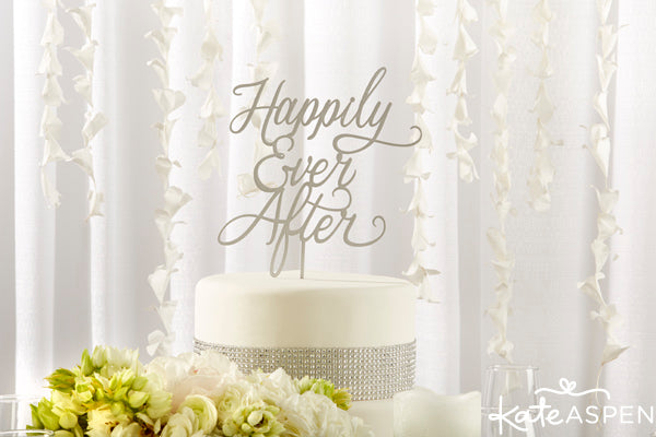 Classic Happily Ever After Cake Topper | Kate Aspen | kateaspen.com