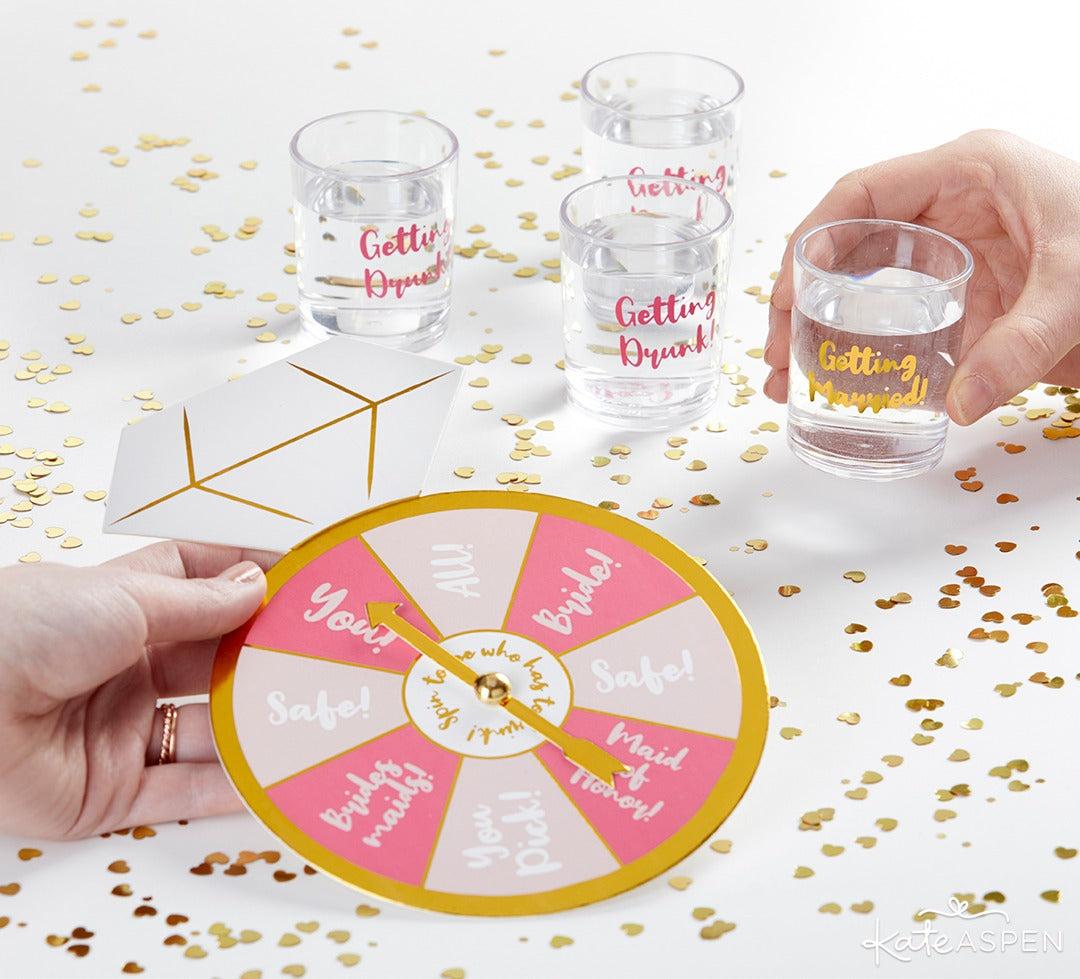 Sip & Spin Bachelorette Party Game | 6 Must-Have Bachelorette Party Accessories | Kate Aspen
