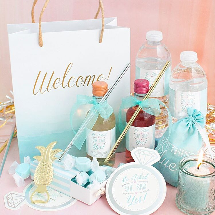 Something Turquoise | Kate Aspen | Blue Beach Wedding Welcome Bag