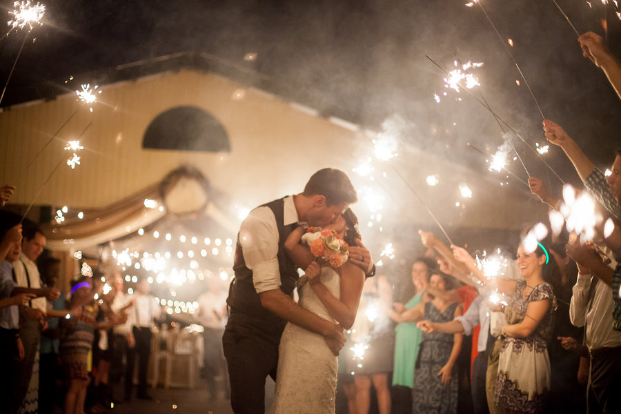 Sparkler Grand Exit | Whimsical Rustic Barn Wedding | McKenzie Stewart Weddings
