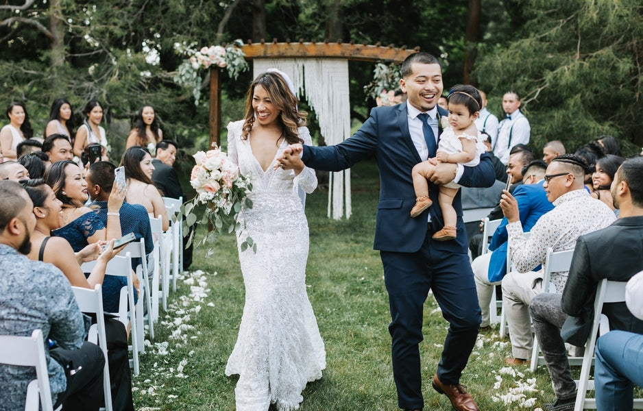 Bride Groom and Daughter | Best of 2018: Kate Aspen Wedding Features | Kate Aspen