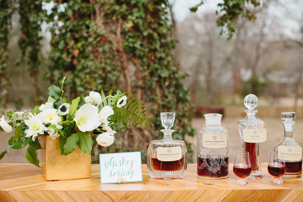 St Patrick's Day Wedding Ideas Whiskey Tasting - Ruffled Blog