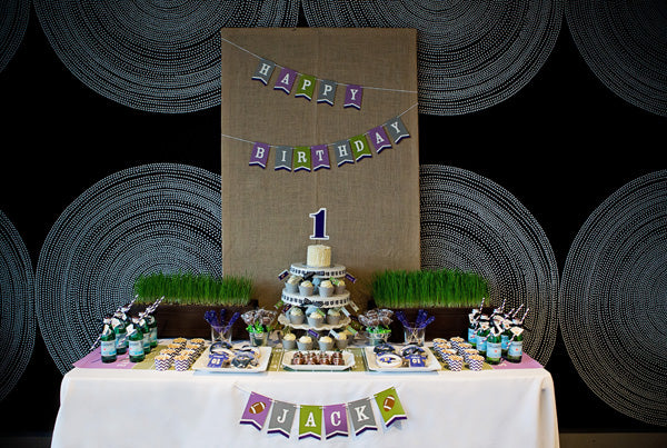 Football First Birthday | Football Party | Baltimore Ravens | Kate Aspen football favors | Atlanta Event Studio | Tulle and Grace Photography | Liddabits Design Shop