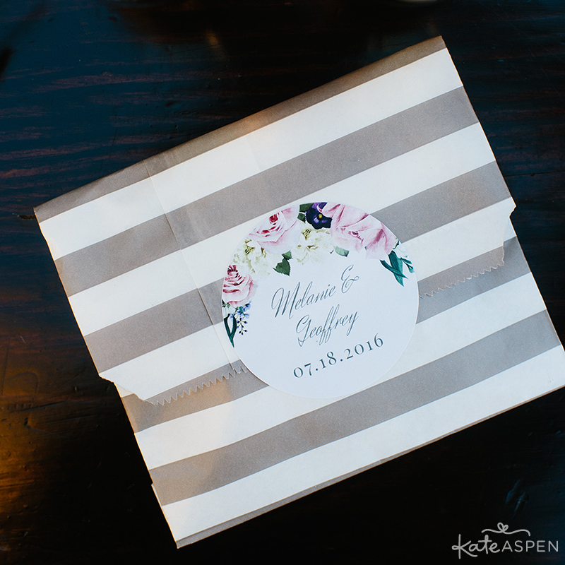 Striped Candy Bag | English Garden Bridal Shower | Kate Aspen