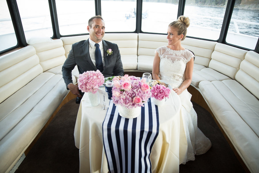 Sweetheart Table | Nautical Wedding On A Boat | Jeramie Lu Photography
