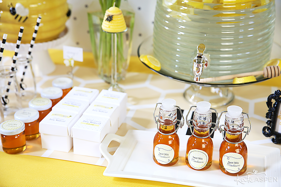 Favor Table | Sweet As Can Bee Baby Shower by Kate Aspen | Photography & Styling: Pizzazzerie