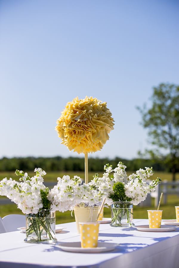 Table Centerpieces | Little Duckling Adoption Party by Sweet Georgia Sweet