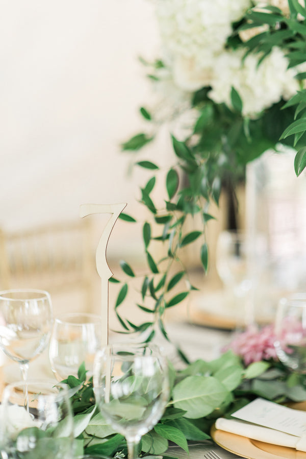 Table Numbers | A Simple & Sweet Garden Wedding | Kate Aspen