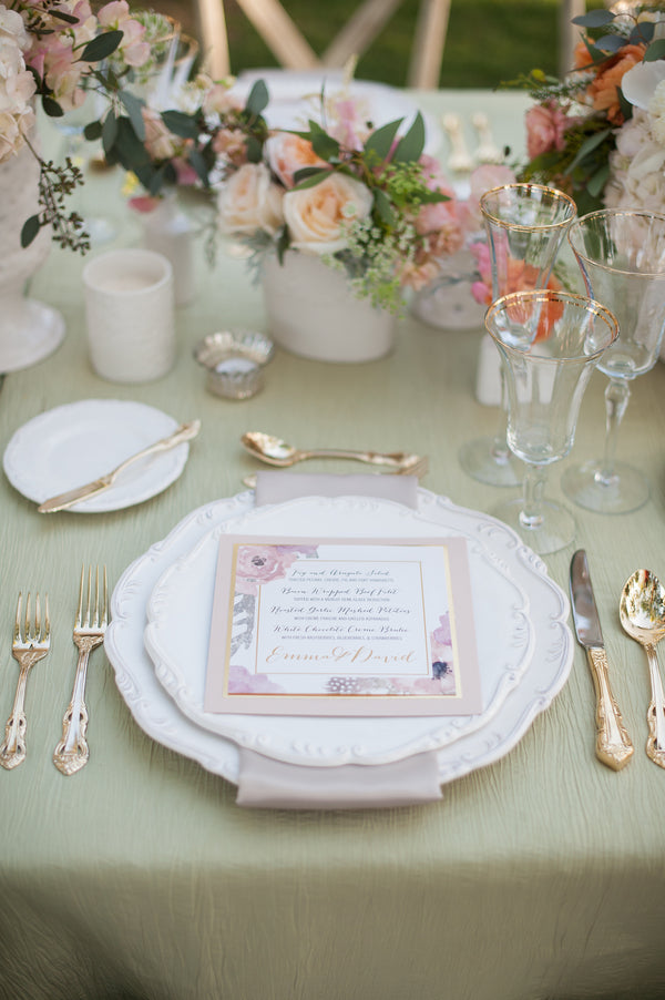 Table Setting  | Gorgeous Garden Wedding Shoot | Leslie Ann Photography | @kateaspen