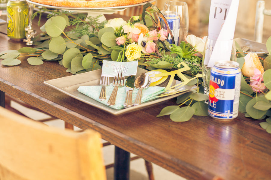 Table Setting | Mountain Bike Industrial Themed Wedding Shoot | Lifestyle Photography