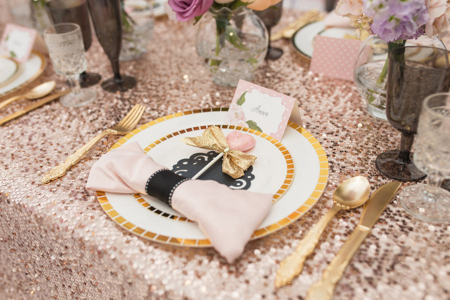 Place Setting  | Tutu Cute Valentine's Day Party | Stephanie Massaro Photography