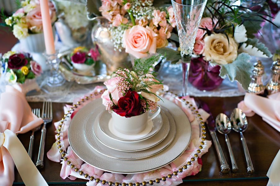 Table Setting | Vintage Details for a Downton Abbey Inspired Wedding | HRM Photography