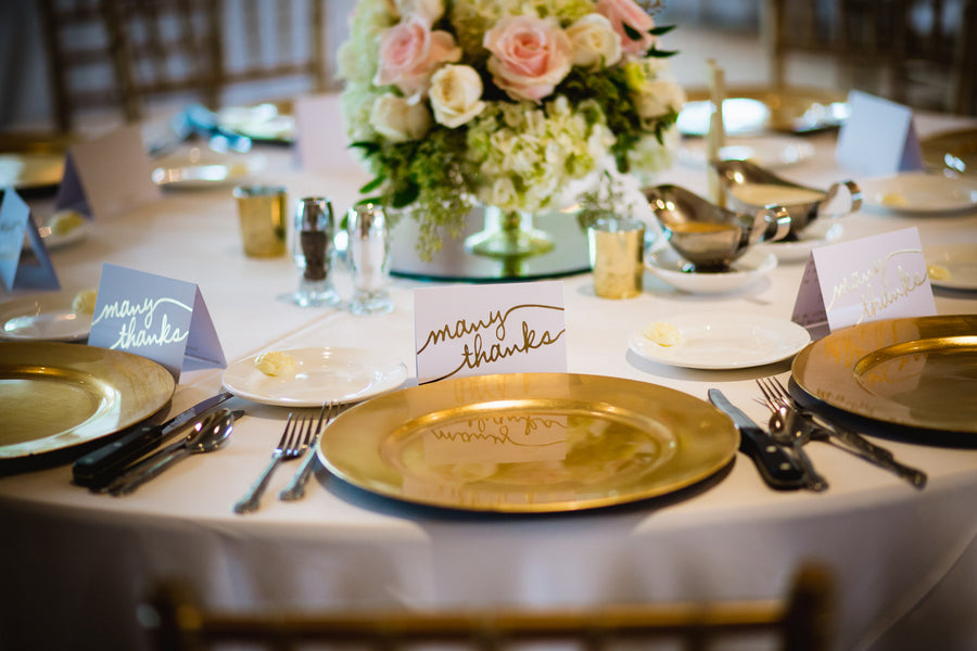 Table Setting | Blush and Gold Wedding | Asteria Photography