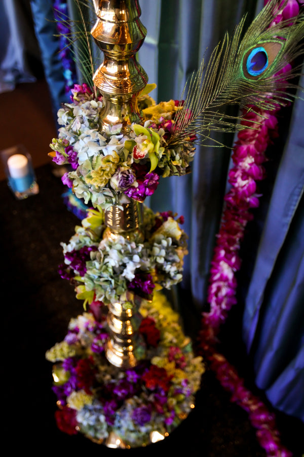 Tall Jewel Tone Flower Arrangement | Pepper Nix Photography