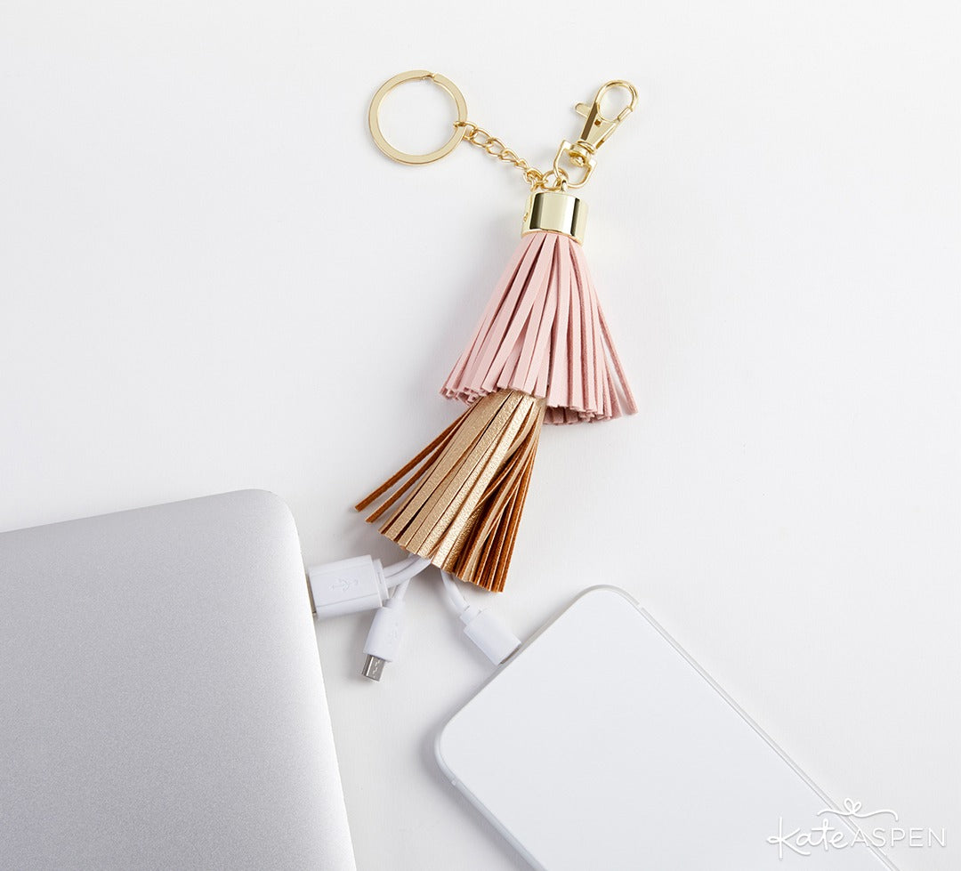 Tassel USB Keychain | Back to School Tech Gifts for Everyone | Kate Aspen