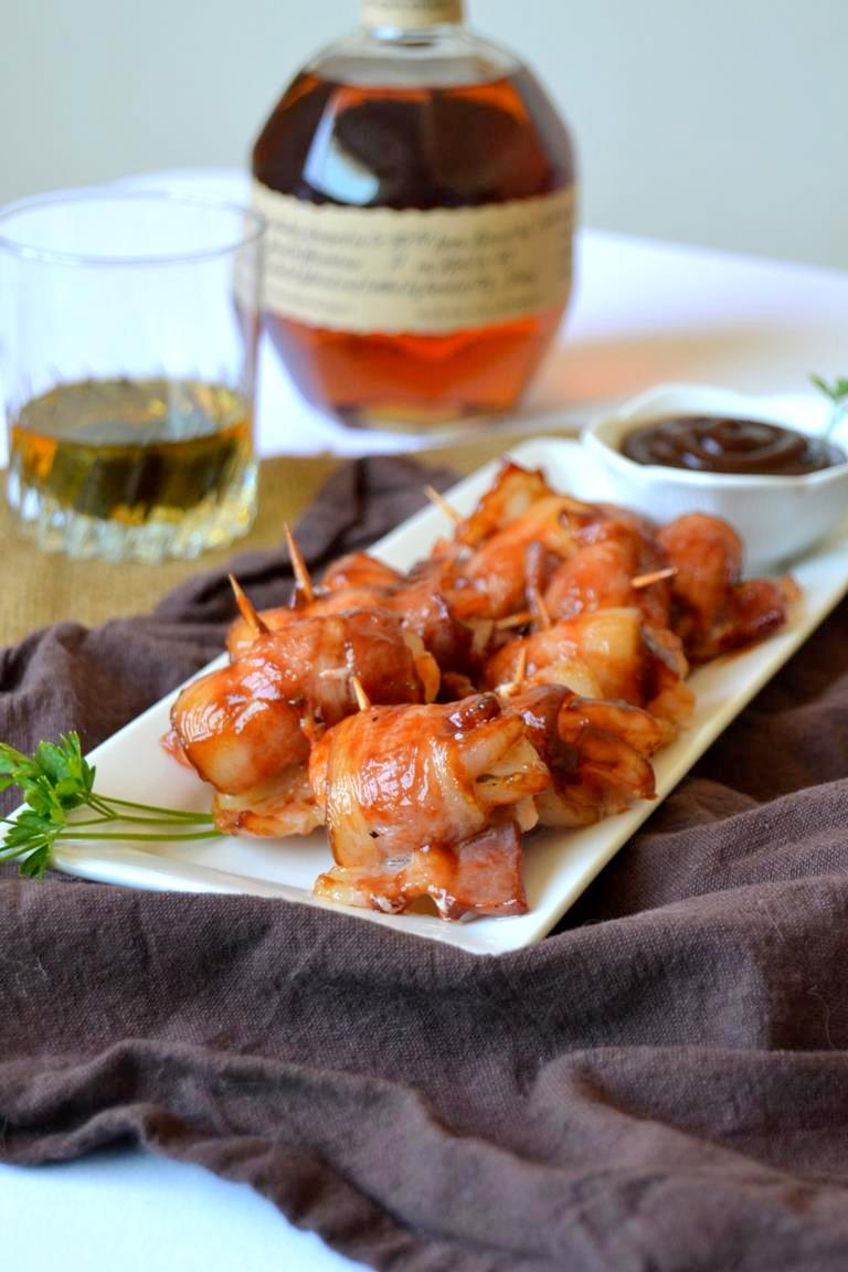 Bourbon and BBQ Bacon Wrapped Shrimp - Tattooed Martha