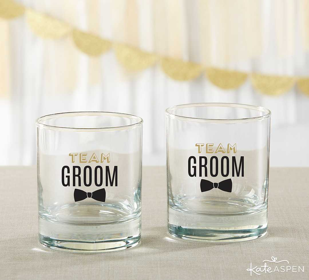 Team Groom Rock Glass | 8 Groomsmen Gift Ideas | Kate Aspen