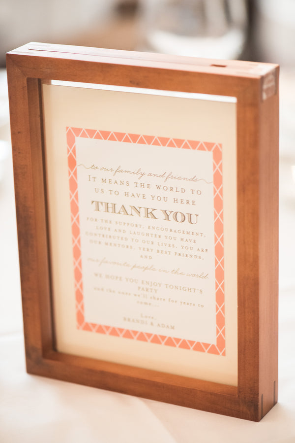 Thank You Sign | Peachy Pink Wedding in Historic Charleston | Priscilla Thomas Photography