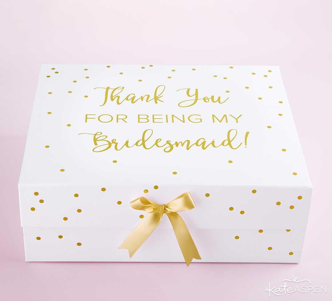 Thank You For Being My Bridesmaid Kit Gift box | Curate Your Own Bridesmaid Proposal Kit + A Giveaway | Kate Aspen