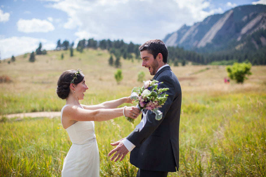 The Bride and Groom's First Look | Colorado Wedding | Katie Keighin Photography