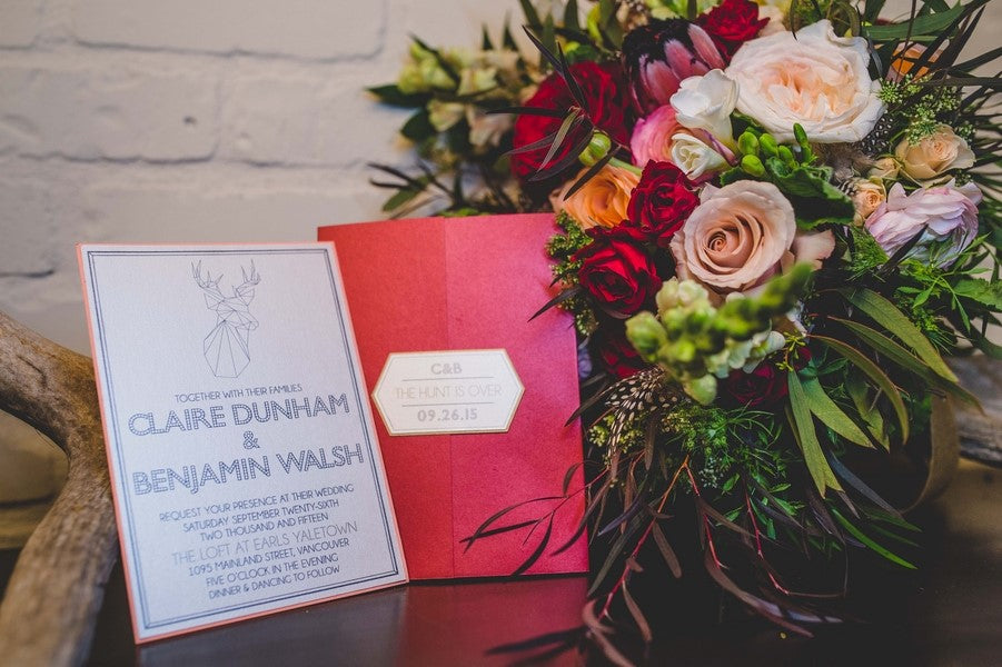 The Hunt Is Over Wedding Invitation | Art Deco Wedding Inspiration | Edward Lai Photography