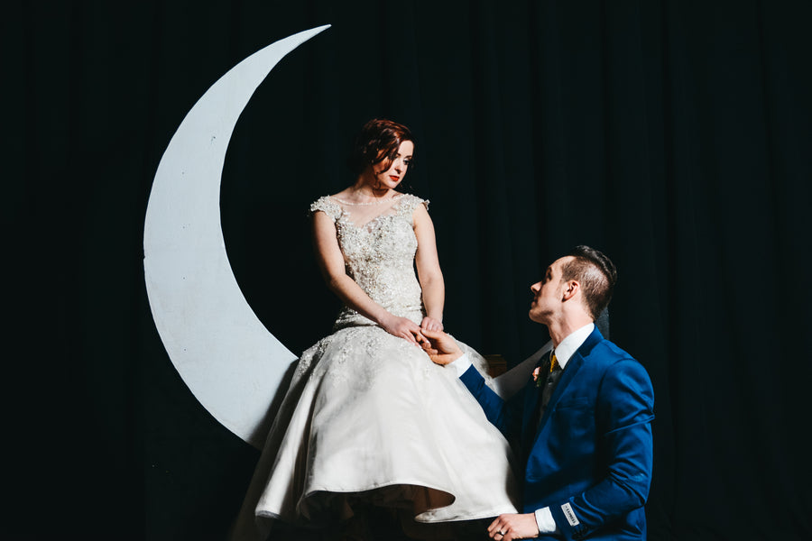 Moon| Our of This World Inspiration for a Starry Night Wedding | Kate Aspen
