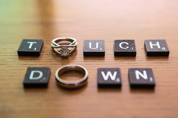 Touchdown Scrabble Tiles and Rings | Wes Roberts Photography