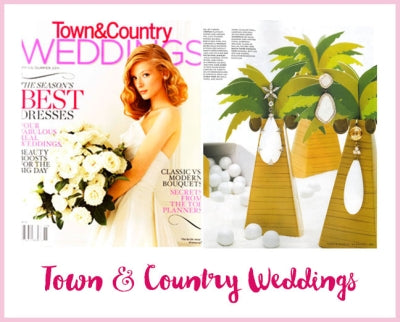 Town & Country Weddings Magazine - Palm Tree Favor Box