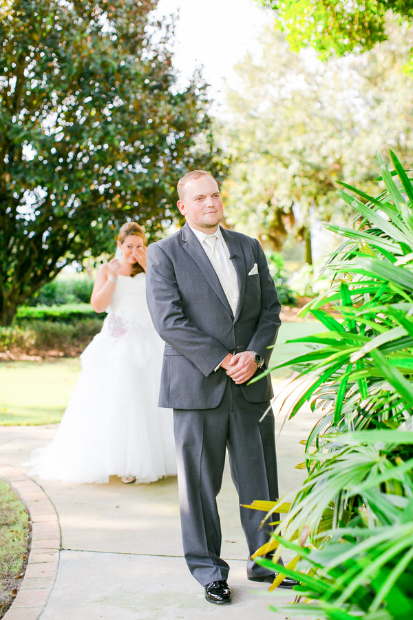 First Look | Pink Wedding in Florida | Claudette Montero Photography