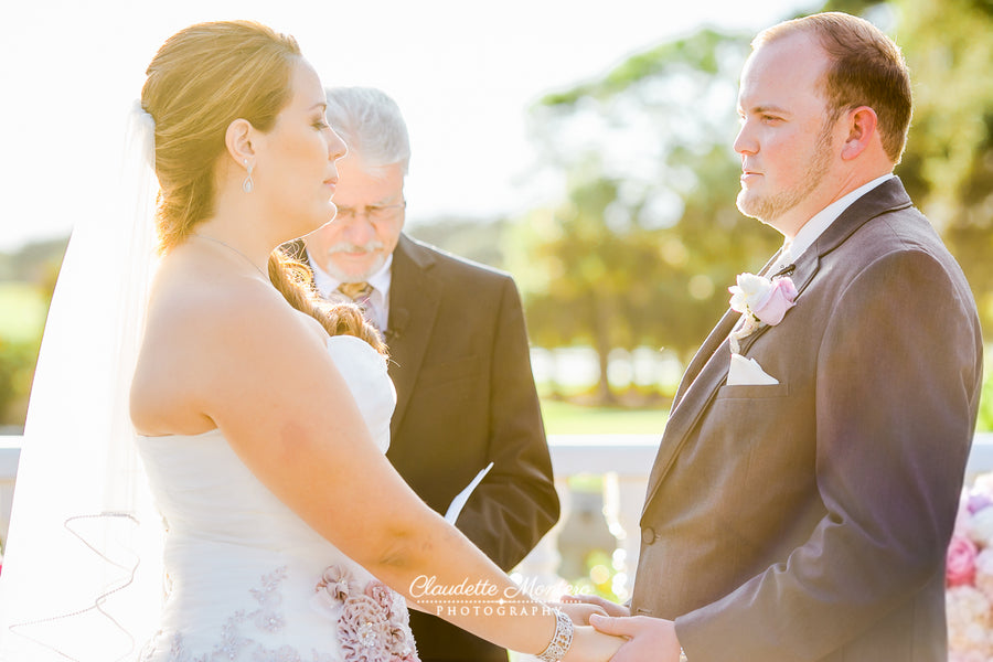 Ceremony | Pink Wedding in Florida | Claudette Montero Photography