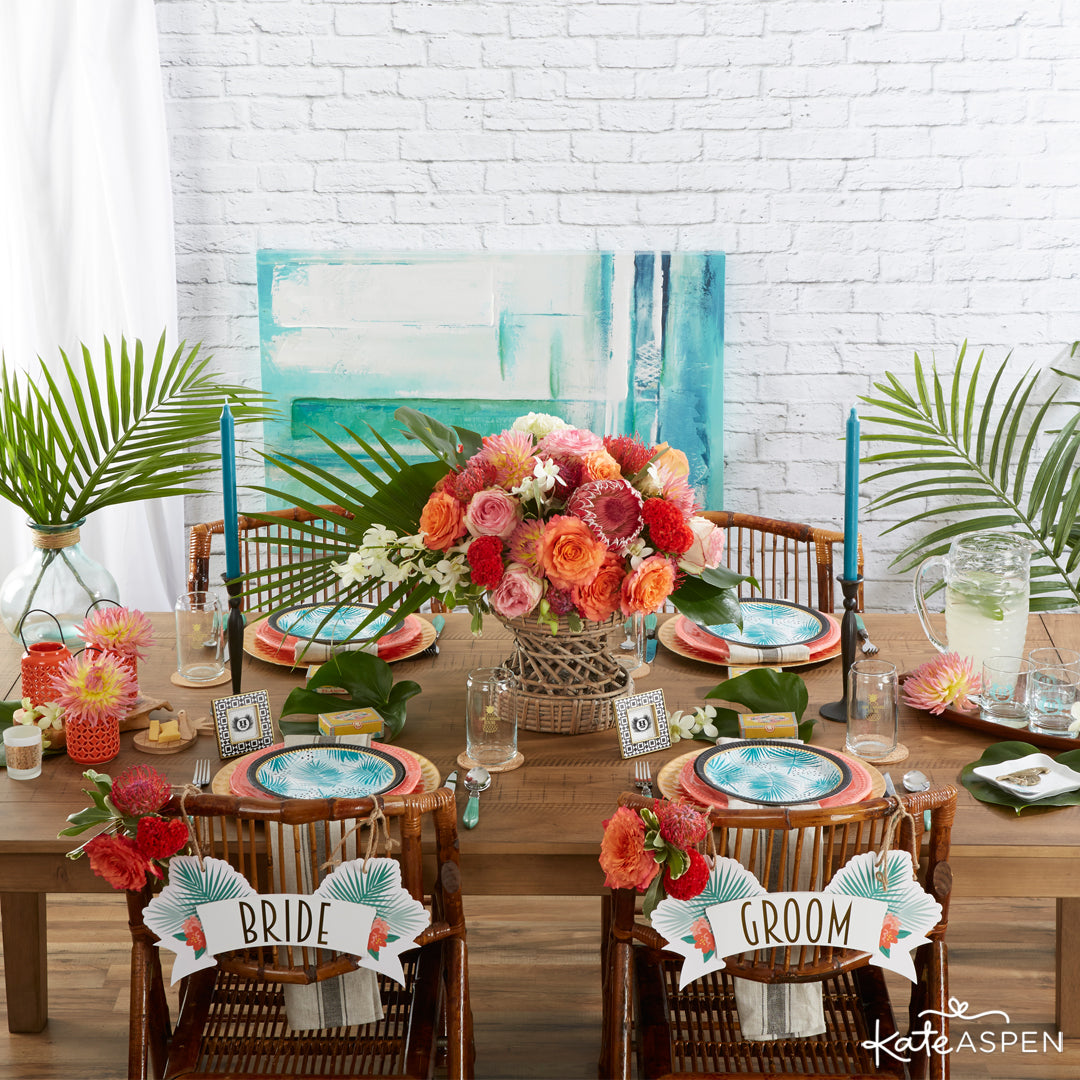 Tropical Chic Collection | 7 Chic Favors for a Tropical Wedding | Kate Aspen