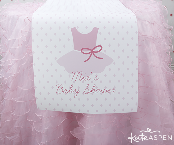 Tutu Cute Baby Shower Table Runner | Kate Aspen