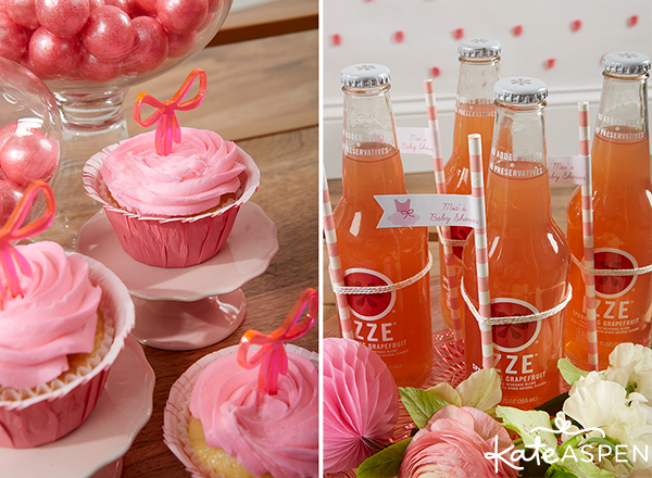 Tutu Cute Baby Shower cupcakes and sodas | Kate Aspen
