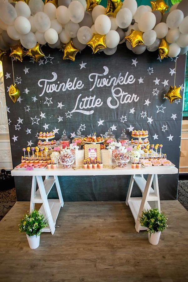 Twinkle Twinkle Baby Shower | 10 Unique and Interesting Baby Shower Themes | Kate Aspen