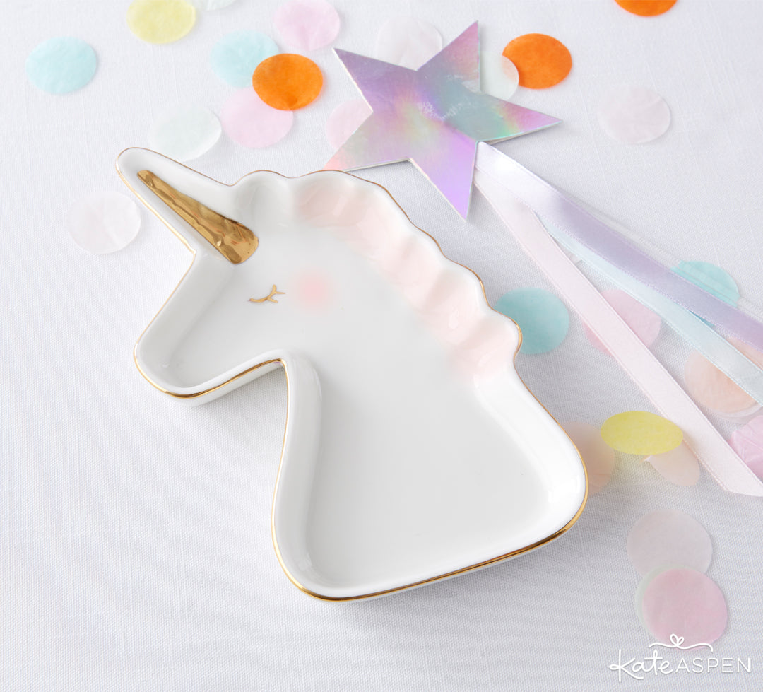 Unicorn Trinket Dish | Be Magical: A Simply Enchanting Giveaway | Kate Aspen