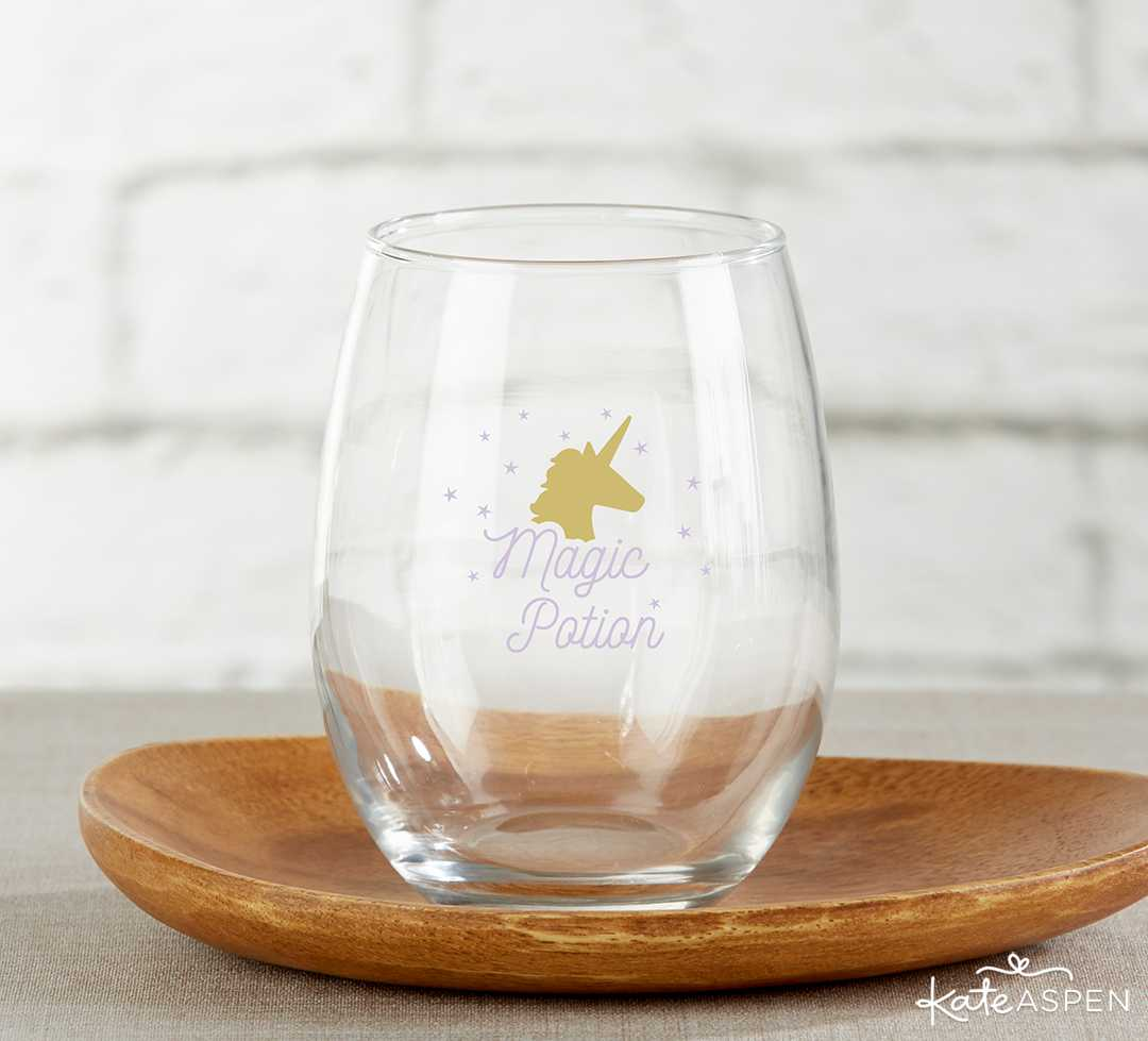 Enchanted Party Stemless Wine Glass | Galentine's Day Gifts for Your Best Gals | Kate Aspen