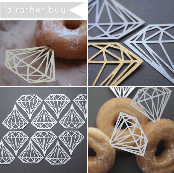 Diamond Ring Donuts | semi DIY | Brunch Bridal Shower Ideas | blog.kateaspen.com | Bridal Shower Inspiration | #kateaspen #bridalshower #diamonddonuts