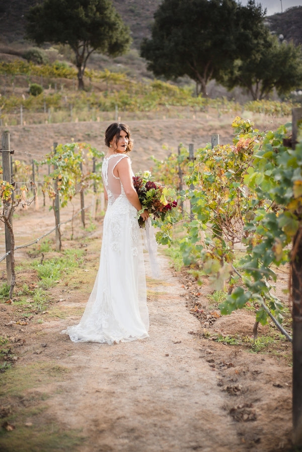 Vineyard| Winter Winery Wedding | Amy Millard Creative Studio