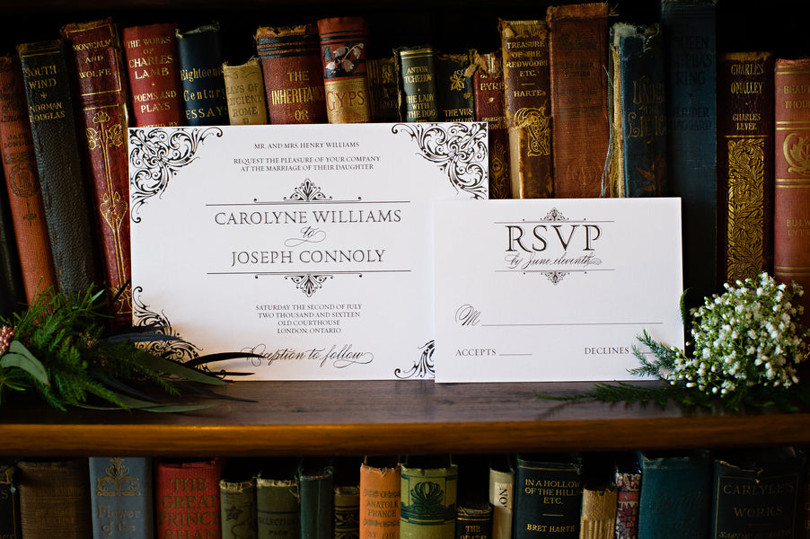 Vintage Wedding Invitation | Vintage Details for a Downton Abbey Inspired Wedding | HRM Photography