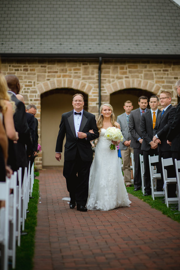Walking Down the Aisle | Blush and Gold Wedding | Asteria Photography