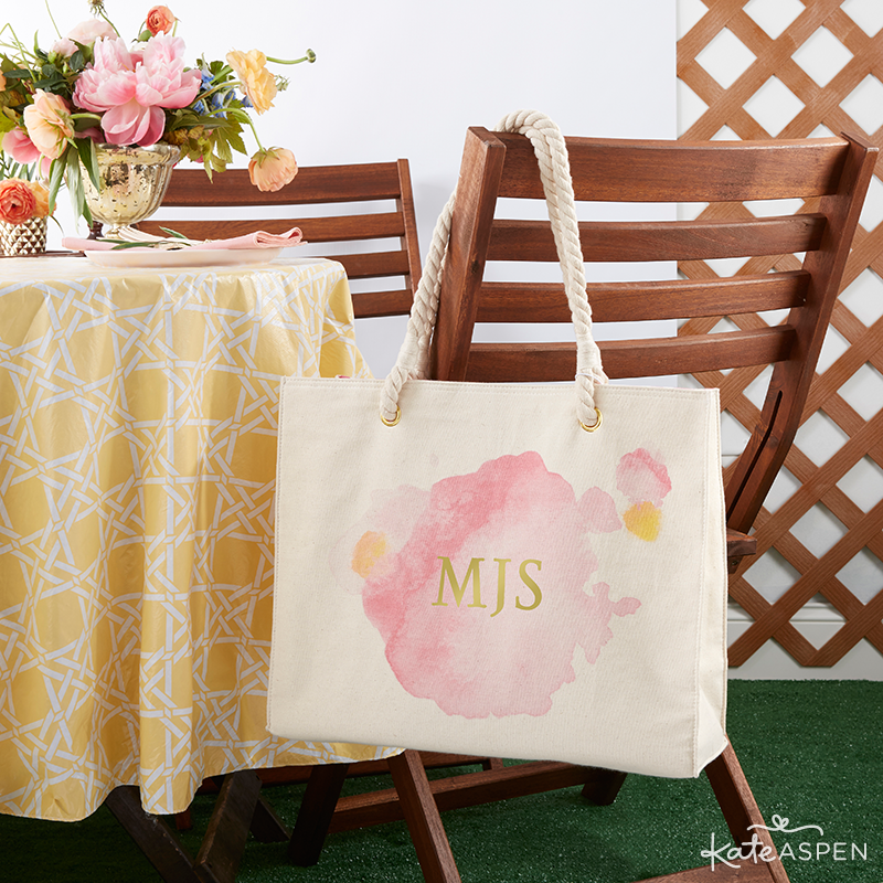 Personalizable Watercolor Tote Bag | KateAspen.com