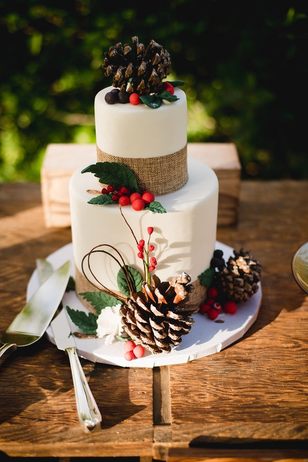 Wedding Cake| Winter Winery Wedding | Amy Millard Creative Studio