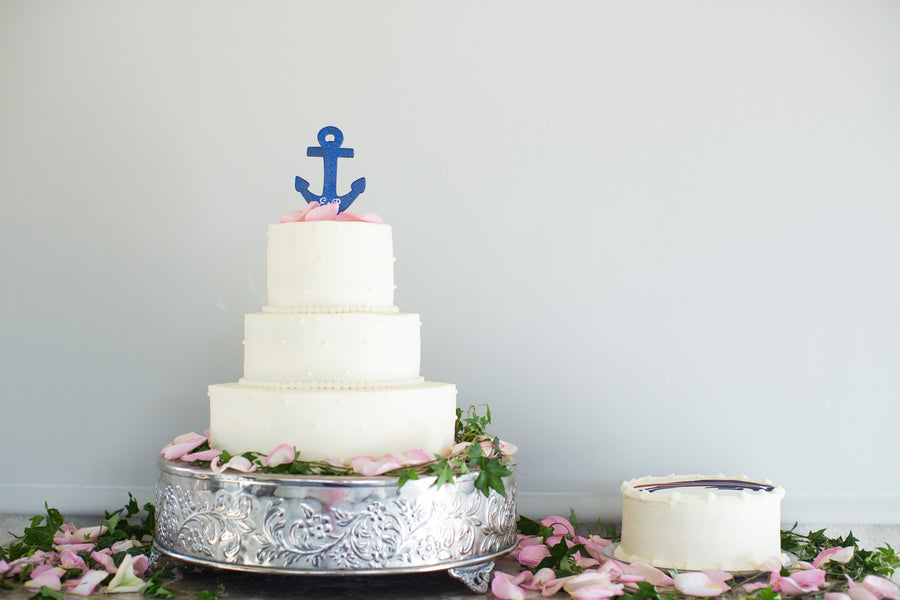 Wedding Cake | Nautical Wedding On A Boat | Jeramie Lu Photography