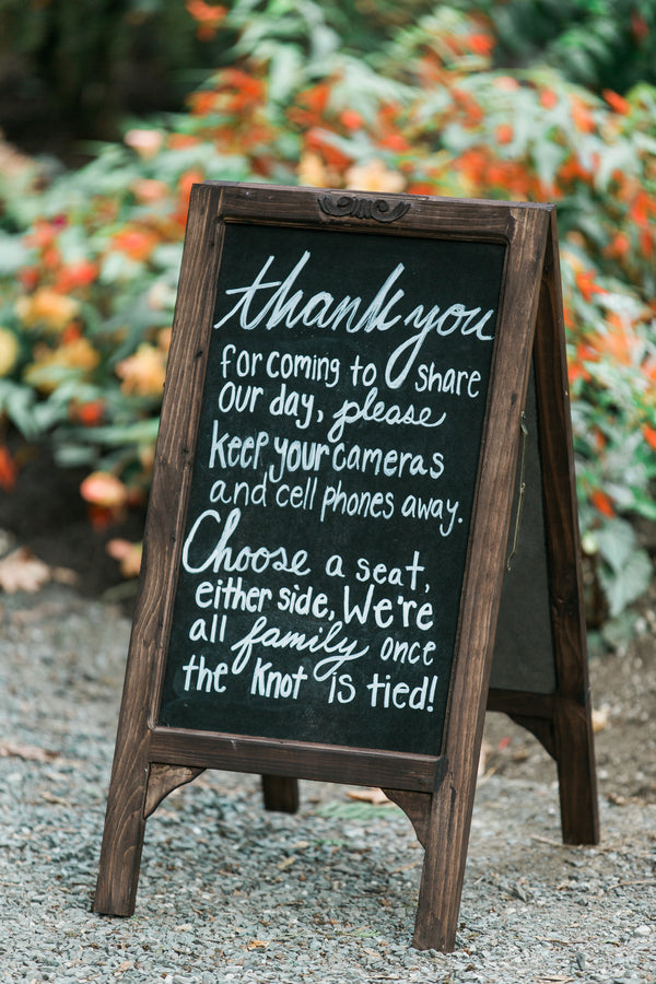 Wedding Ceremony Sign | Blissful Garden Wedding Details | B. Jones Photography